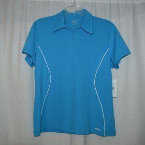 Reebok Blue Relax Fit Polo Shirt Womans Size XL
